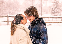 Kylie & James Romantic Winter Snowy Shoot 2015